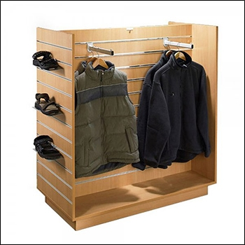 Standard Slatwall H Unit with Metal Inserts - Multiple Finish Options
