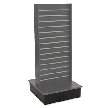 Standard Slatwall 2-Way T Unit with Metal Inserts - Multiple Finishes