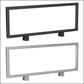 VersaRack Steel Frame Top Signs - Black or Silver - 2 PACK
