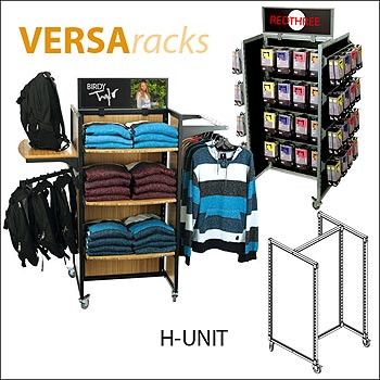 VersaRack H Unit Retail Display - Multiple Finish Options