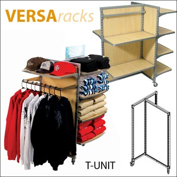 VersaRack T Unit Retail Display - Multiple Finish Options