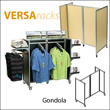 VersaRack Large Gondola Unit - Multiple Finish Options
