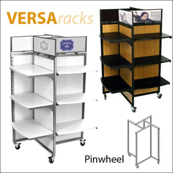 VersaRack Pinwheel Display - Multiple Finish Options