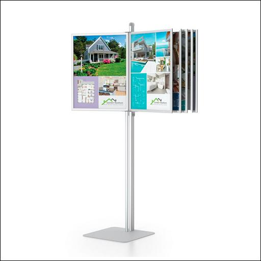 Free Standing Swing Panels - Satin Silver