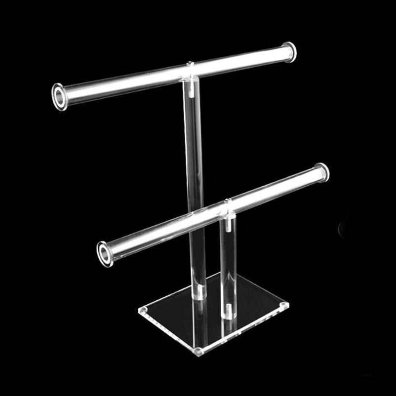 Dual Acrylic T-Bar Display