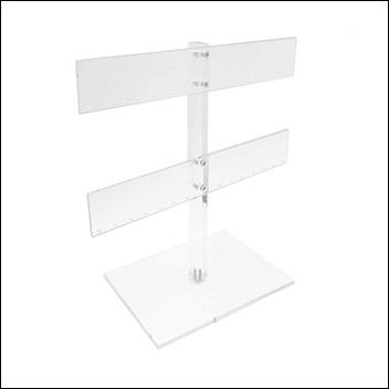 Acrylic Double T-Bar Earring Display