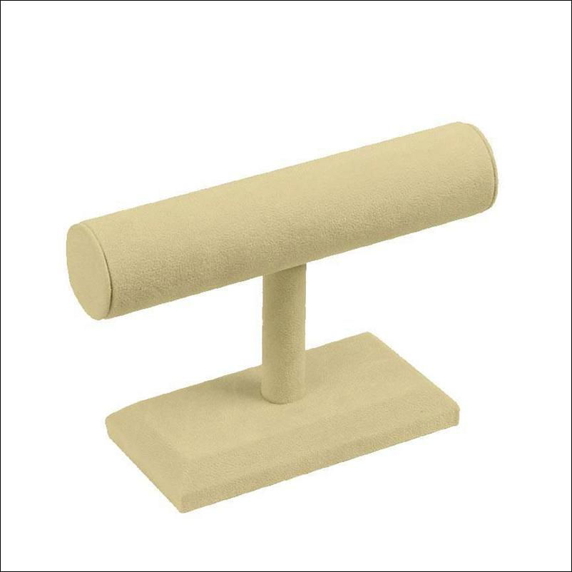 Beige Suede T-Bar