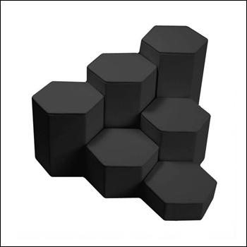 Leatherette Riser Set Black