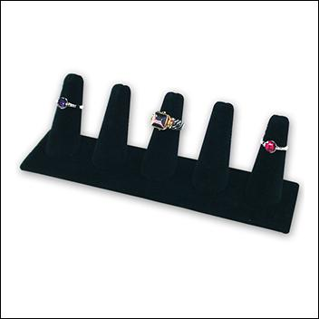 Ring Display Five Finger Black