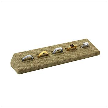 Burlap Ring Display Five Slot