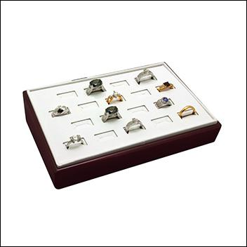 Rosewood Ring Tray 18 Slot
