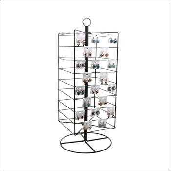 Tall Rotating Earring Card Metal Stand