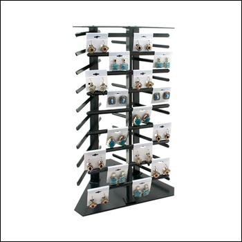 Revolving Earring Display 108 Cards, Black