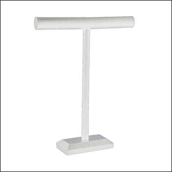 T-Bar Tall White Leatherette