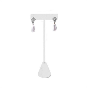 Medium Earring T Stand White