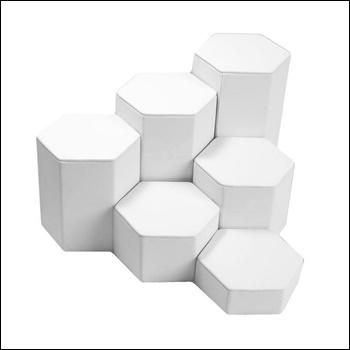 Leatherette Riser Set White