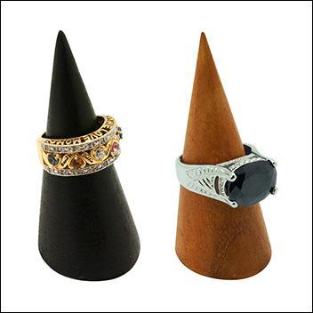 Wood Cone Ring Display