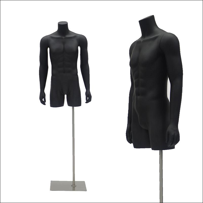 Male Mannequin Torso Black