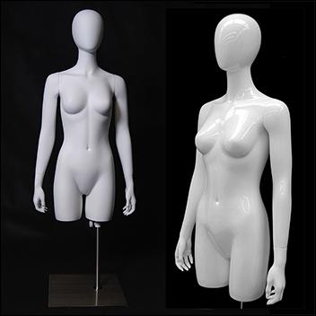 Table Top Egghead Female Mannequin Torso
