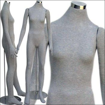Headless Female Soft Body Bendable Mannequin - Multiple Finish Options