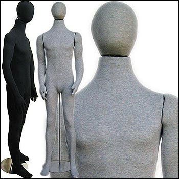 Male Soft Body Bendable Mannequin - Multiple Finish Options