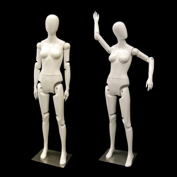 Female White Flex Mannequin with Articulated Movable Joints