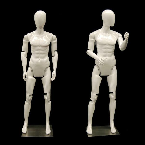 Flexible Mannequin with Movable Joints - Gloss White