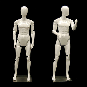 Men's White Flex Mannequins with Articulated Movable Joints