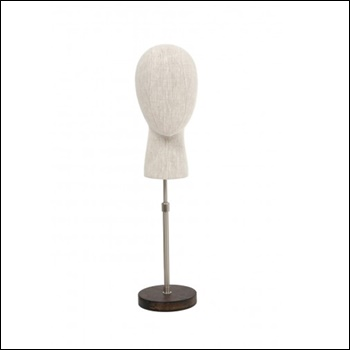 Head Form Display With Base (Linen)