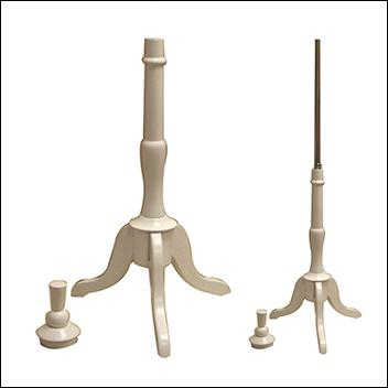 Tripod White Wood Base