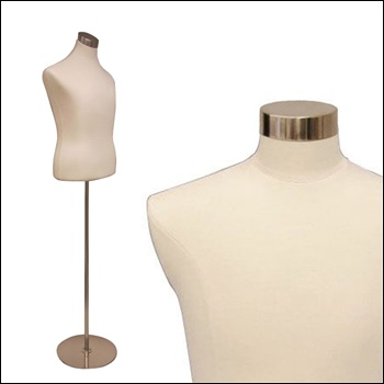 Male Shirt Form - White Leather Cover