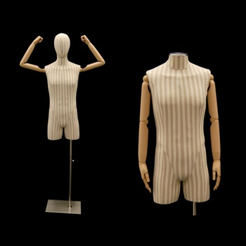 Pinstrip Linen Male Body Form w/ Head