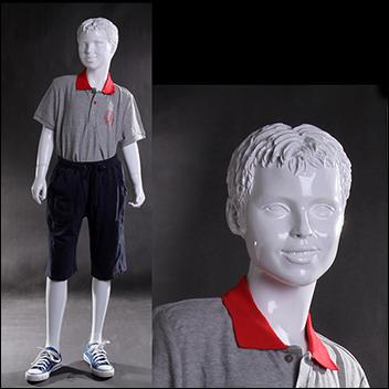 Abstract Molded Hair Child Mannequin - Casual Standing