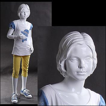 Abstract Molded Hair Child Mannequin - Standing