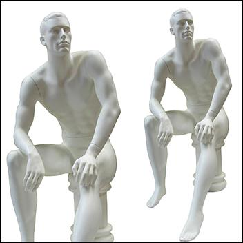 Male mannequin Sitting Down