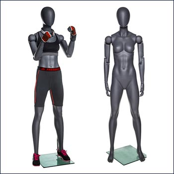 Female Articulated Flex Arm and Fingers Athletic Mannequin