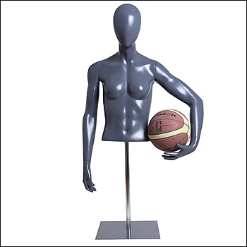 Female Basketball Player Mannequin Form Holding Ball to Hip