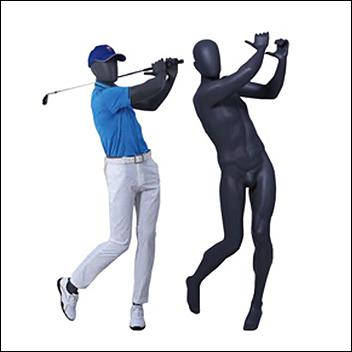 CUSTOMIZE - Male Golfer Mannequin Swinging Golf Club