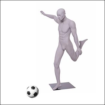Soccer Mannequin Kicking the Ball Pose