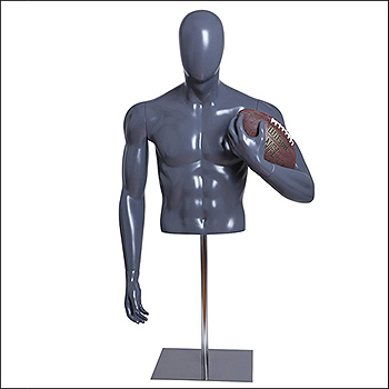 American Football Player Mannequin Form - Holding Ball Pose