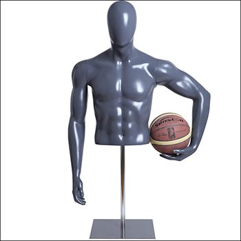 Male Basketball Player Mannequin Form Holding Ball to Hip Pose