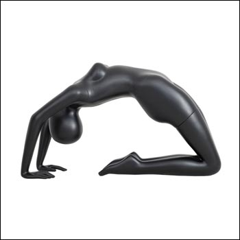Black Yoga Mannequin Display - Bridge Pose