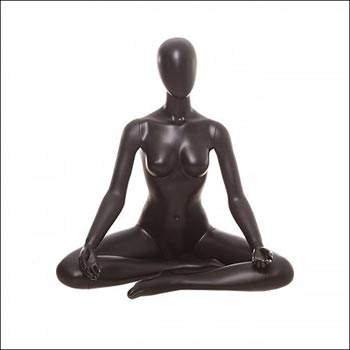 Black Yoga Mannequin Display - Sitting Lotus Pose