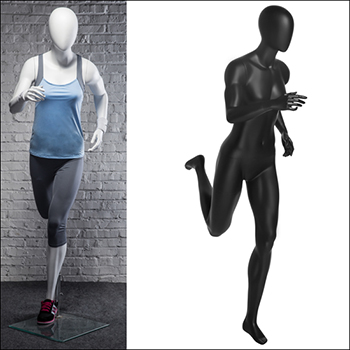 Classic Runner Pose - Female Mannequin - Black or White