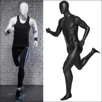 Classic Runner Pose - Male Mannequin - Black or White