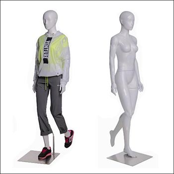 Walking or Hiking Female Mannequin - Gloss White