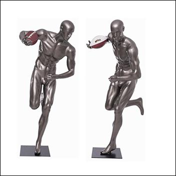Football Player Mannequin with Juke Move Pose