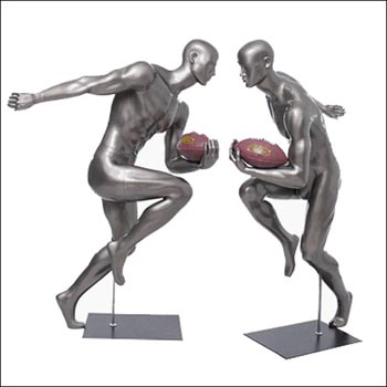 American Football Player Running Mannequin Pose