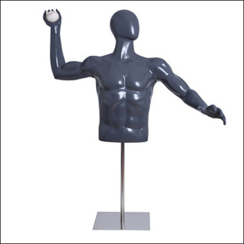 Baseball Pitching Pose Mannequin Form with Adjustable Base