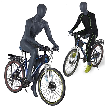 Sitting on Bike or Motorcycle Pose Mannequin - 5 Minimum - CUSTOMIZE